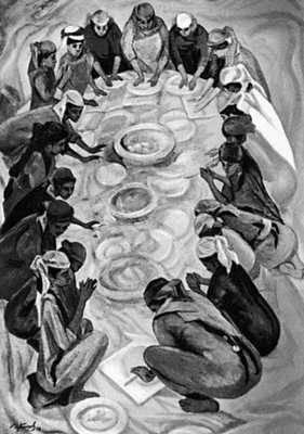 И. Клычев. «Завтра праздник». 1972. Союз художников СССР. Москва.