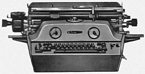 Рис. 2б. Наборно-пишущая электрическая машина («Веритайпер», модель 1010, США).