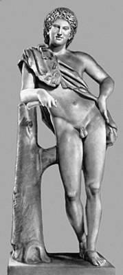 Пракситель (?). «Отдыхающий сатир». Мрамор. Античная копия или скульптура круга Праксителя. Капитолийские музеи. Рим.
