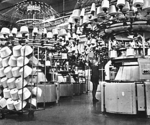 Цех текстильного предприятия «Сигматекс» в Лодзинском воеводстве.