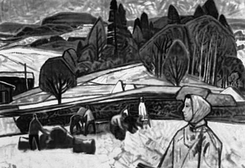 Л. Микко. «Перед снегом». 1962. Художественный музей Эстонской ССР, Таллин.