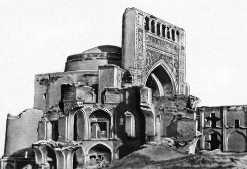 Мечеть в Анау.1456 (снимок сделан до землетрясения 1948).