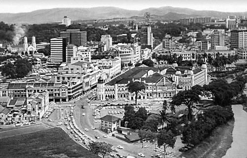 Куала-Лумпур. Общий вид города.