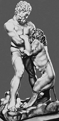 «Геракл со львом». Римская копия с оригинала Лисиппа. Мрамор. 2-я половина 4 в. до н. э. Эрмитаж. Ленинград.