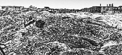 Польша. Руины Варшавы. 1945.