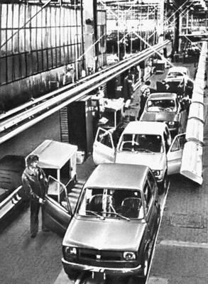 В сборочном цехе автомобильного завода в г. Бельско-Бяла.