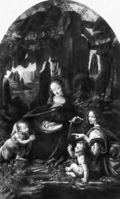 Леонардо да Винчи. «Мадонна в гроте». 1483—94. Лувр, Париж.