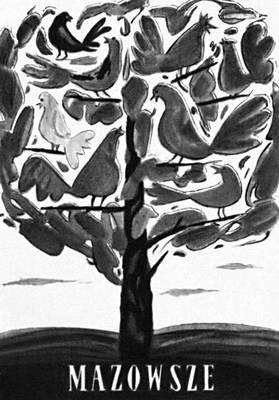 Плакат народной Польши. Я. Леница. «Мазовше». 1955.