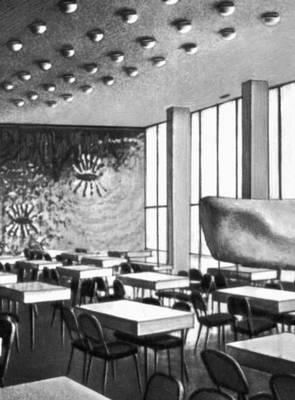 Польша. В. Брызеки и др. Дом студенток в Кракове. 1964. Бар.