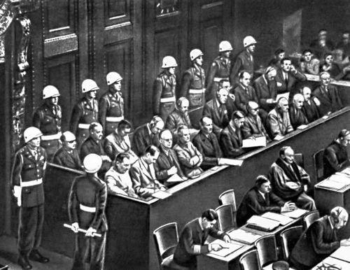 Нюрнбергский процесс. На скамье подсудимых.