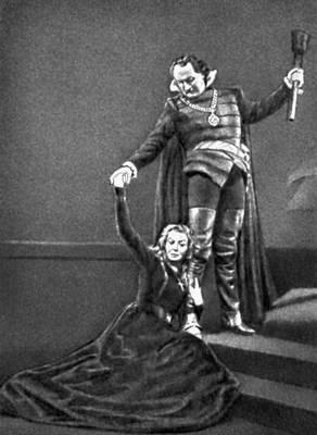 Сцена из спектакля «Мария Стюарт» Ю. Словацкого. «Театр Польски». Варшава. 1958.