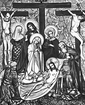 «Снятие со креста» из Хомраниц. Около 1440. Музей в Тарнуве.