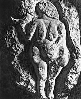 «Женщина с кубком». Известняковый рельеф (из Лосселя, департамент Верхние Пиренеи, Франция). Верхний палеолит. Музей изящных искусств. Бордо.