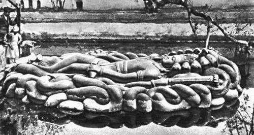 «Вишну», Гранит. 7—8 вв. Святилище Вишну близ Катманду.