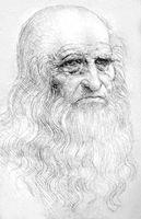 Леонардо да Винчи. Автопортрет. Сангина. Ок. 1510—13. Библиотека. Турин.