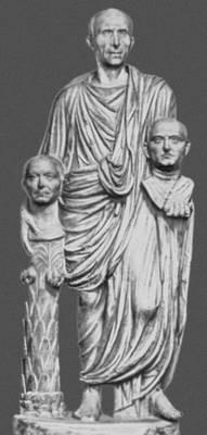 Римлянин с изображением предков. Мрамор. 1 в. до н. э. Палаццо Барберини. Рим.