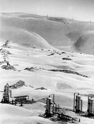Автоматизированная установка перекачки нефти в пустыне Каркумы.