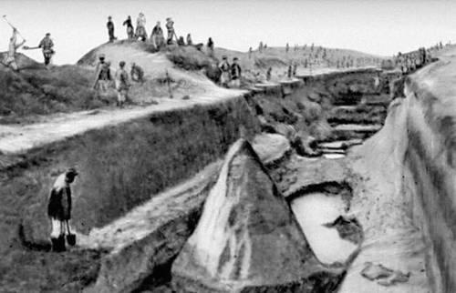 Строительство Карабекаульского канала. 1933.