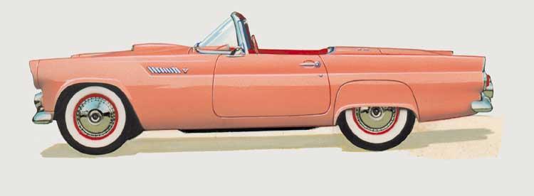 ФОРД-ТАНДЕРБЕРД, модель Р5 (1955)