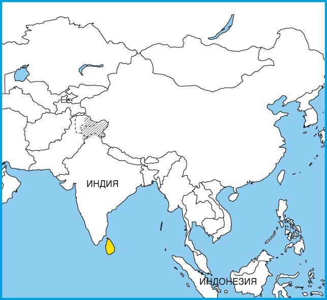 На карте Южной Азии