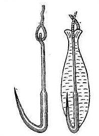 Рис. 4. Нижневолжская блесна (сбоку и сверху).