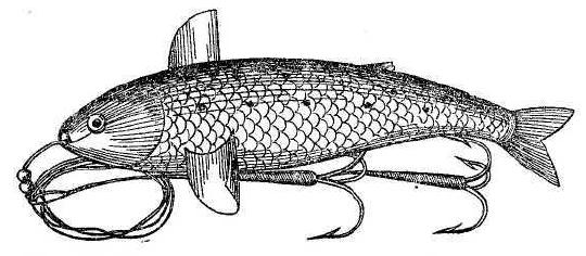 Рис. 47. Искусственная металлическая рыбка.