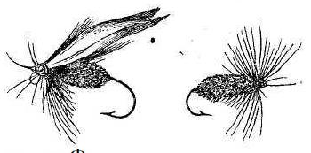 Рис. 59. Форелевые мушки.