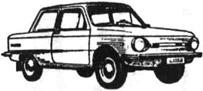 Легковой автомобиль ЗАЗ-968М Запорожец