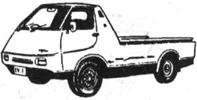 Грузовой электромобиль фирмы Ниссан (Япония). Полная масса 3,5 т, грузоподъёмность 1 т, мощность двигателя 27 кВт (36 л. с.), максимальная скорость 85 км/ч, запас хода (при скорости 40 км/ч) 220 км