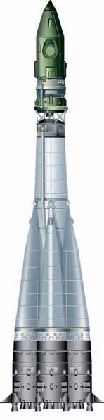 Ракетаноситель «Восток» с космическим кораблём «Восток-1»