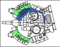Схема башни танка Т-80УК