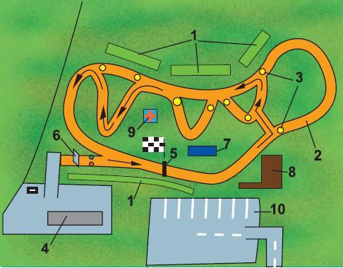 Схема автодрома: