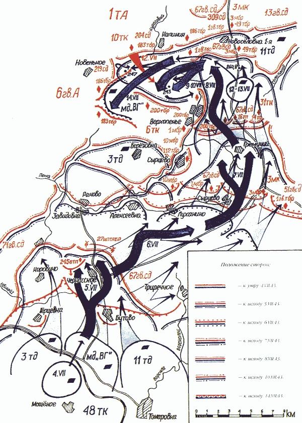 В целом, эффект, произведенный действиями полка «пантер», оказался ниже, чем ожидало немецкое командование. Генерал Г.Гудериан, посетив войска группы армий «Юг», составил донесение, отправленное им 17 июля начальнику штаба ОКН генералу Зейцлеру: