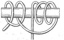 Рис. 59. Верблюжий узел