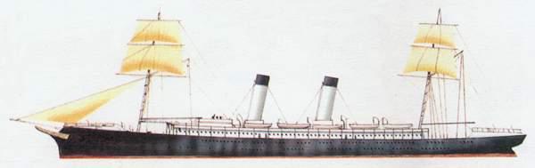 «America»(«Америка»)королевская яхта (Италия)