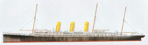 «Augusta Victoria»(«Августа Виктория»)пассажирский лайнер/вспомогательный крейсер.»<br/>(«