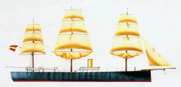 «Arapiles»(«Арапилес»)броненосец (Испания)