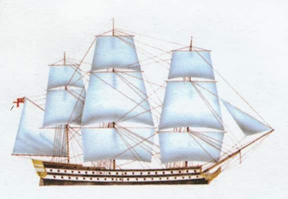 «Audacious»(«Одэйчес»)74-пушечный парусный линейный корабль (Великобритания)