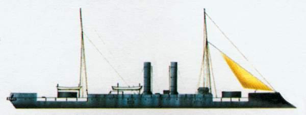 «Affondatore»(«Афондаторе»)башенный броненосец (Италия)