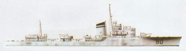 «Baleno»(«Балено»)эсминец (Италия)