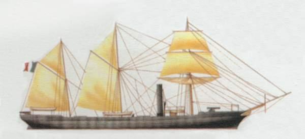 «Comète»<br/>(«Комет»)<br/><br/>канонерская лодка (Франция)