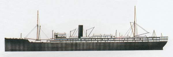 «Ballarat»(«Балларэт»)грузопассажирское судно (Великобритания)