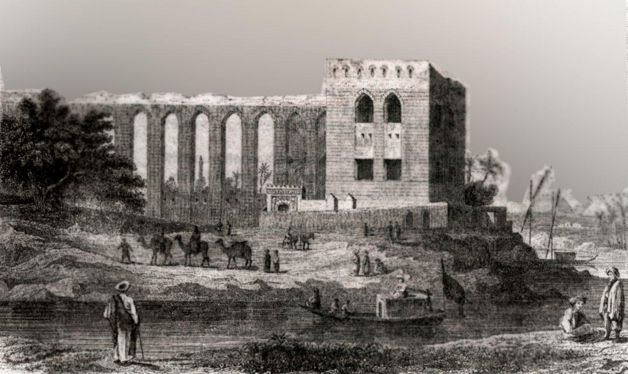 Акведук, по которому вода поступает в крепость Каира