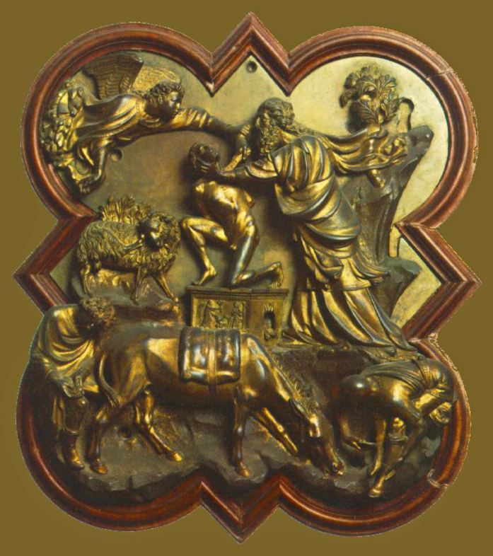 Филиппо Брунеллески.     Жертвоприношение Авраама.   1401 г.
