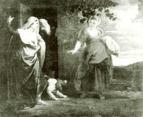 Уход Агари из дома Авраама.