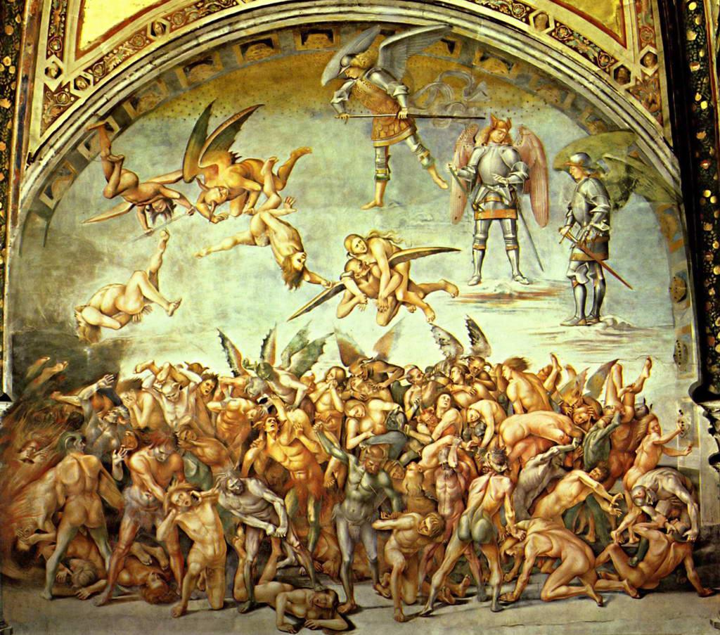 Лука Синьорелли.  Фреска из собора в Орвието: души проклятых  1499-1505 гг.