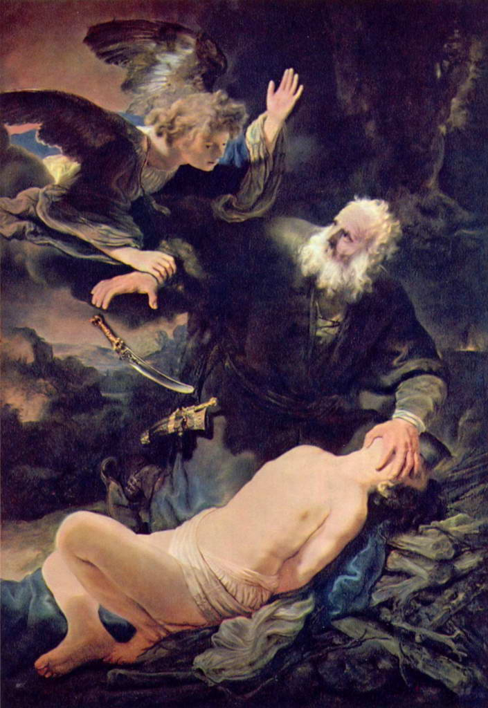 Рембрандт Харменс ван Рейн.    Жертвоприношение Авраама.   1635 г.