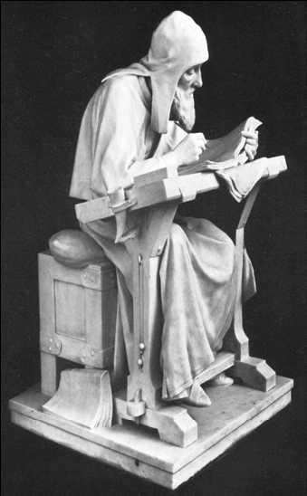 Нестор-летописец. Скульптура работы М. М. Антокольского. 1889 г.
