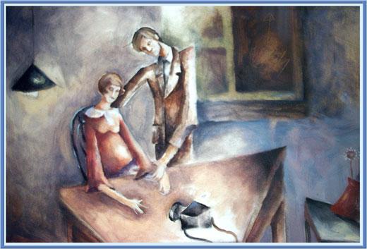 Иллюстрация к пьесе Адам и Ева