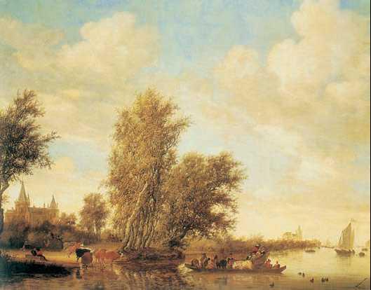 Я. ван Гойен. «Речной пейзаж». 1631г.